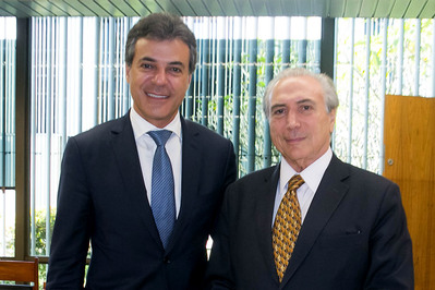 Governador Beto Richa durante encontro com o Vice-Presidente Michel Temer. Brasília, 15/04/2015. Foto: Romério Cunha/Vice-Presidência da República