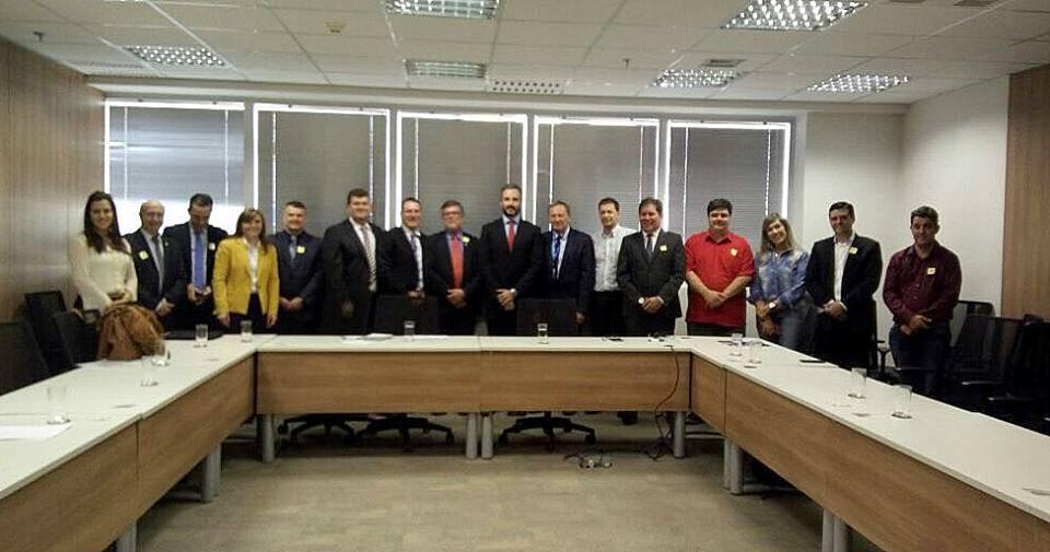Comitiva do sudoeste em reunião na Secretaria de Aviação Civil, em Brasília / Foto: Assessoria