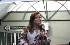 Deputada Leandre em visita à Chopinzinho, um dos municípios contemplados com emendas parlamentares. Foto: Edson Zuconelli.