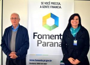 Itacir Rovaris e Luciana Dani, agentes de crédito do Banco do Empreendedor / Foto: Assessoria