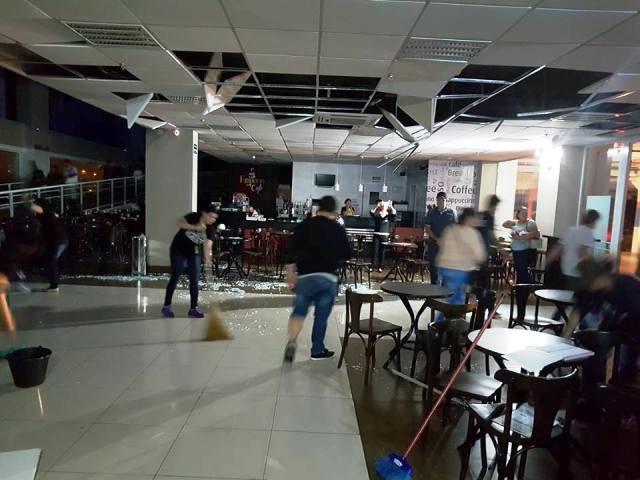 Estrutura da Havan em Pato Branco também foi danificada pelo vendaval. Foto de divulgação
