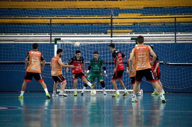 Treino realizado neste sábado (5). Foto: Assessoria Marreco Futsal