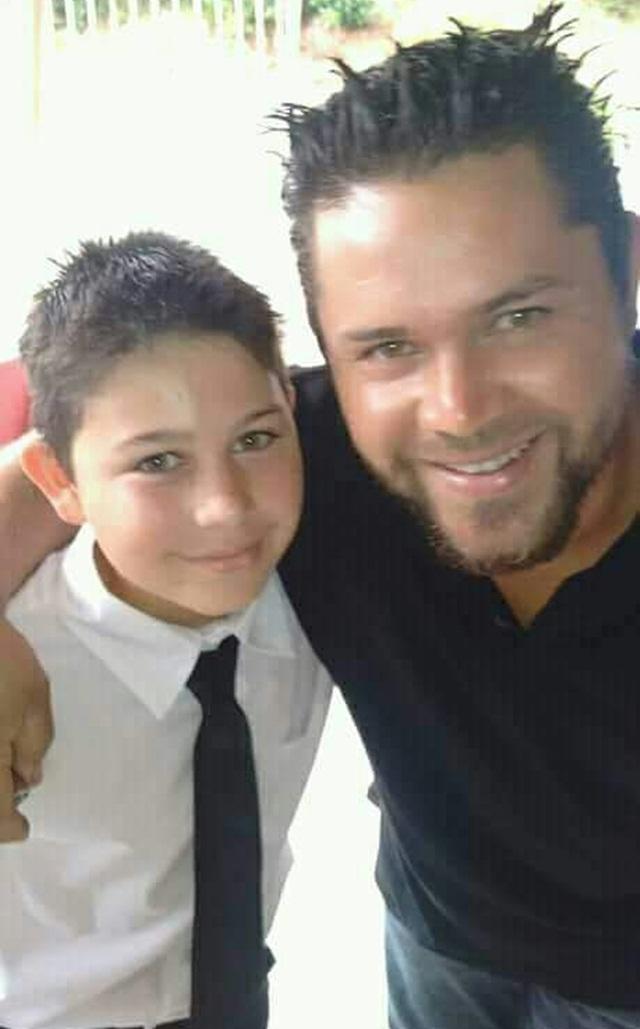 Eduardo, 12 anos, e o pai Sidnei Pereira da Silva, 33 anos. Foto: Arquivo familiar