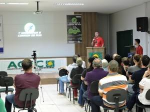 Diretor do Departamento de Esportes, Fernando Misturini, fazendo o lançamento oficial do evento. Foto: Edson Zuconelli.