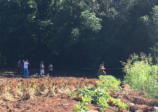 Corpo de Marli foi encontrado num matagal, próximo do centro da cidade. Foto: Polícia Civil