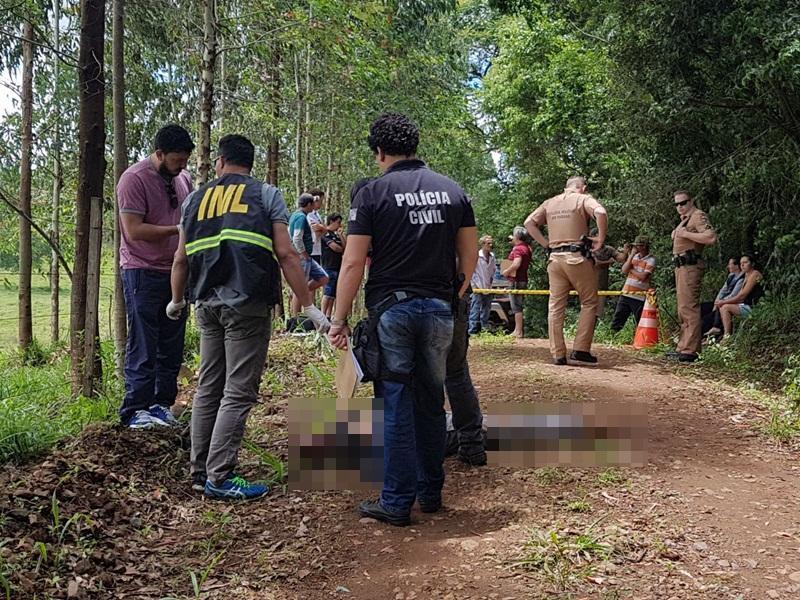Crime aconteceu numa estrada da comunidade de Linha santa Terezinha. Foto: Ivânia Bonatto/Diário da Informação