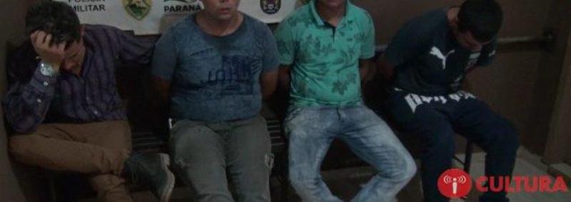 Os suspeitos foram entregues na Delegacia de Polícia de Foz do Iguaçu. Foto; Rádio Cultura