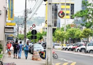 Área central de Francisco Beltrão / Foto: Francione Pruch
