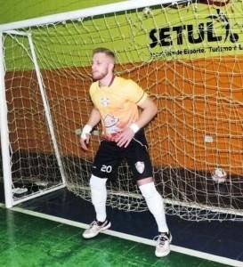 Novo reforço do Chopinzinho Futsal, goleiro Guilherme. Foto: Assessoria ACEL.