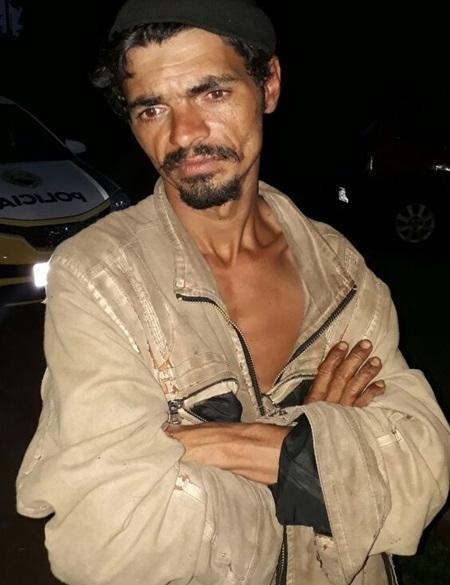 Andarilho suspeito de ser a vítima de homicídio. A foto é de uma abordagem feita pela polícia a cerca de dois meses.