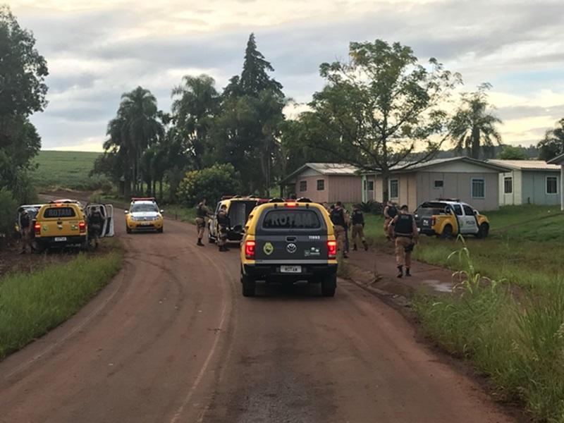 Equipes de toda região foram mobilizadas em busca do suspeito. Foto de divulgação