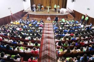 Cerca de 600 jovens vindos de vérios estados estão participando. Foto: Província Franciscana da Imaculada Conceição do Brasil.